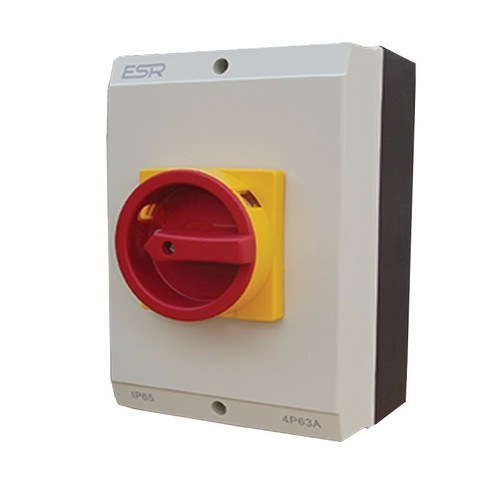 ESR 63A 4 Pole 230V-415V Large IP65 Industrial Rotary Isolator  - Click to view a larger image
