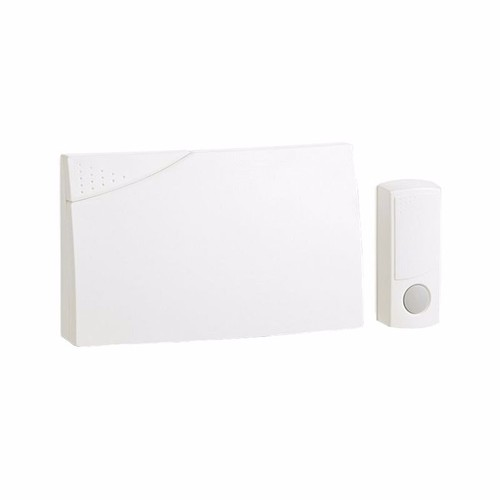 Greenbrook Ambassador 150m Range Wireless Door Bell Chime & Push Kit - White  - Click to view a larger image