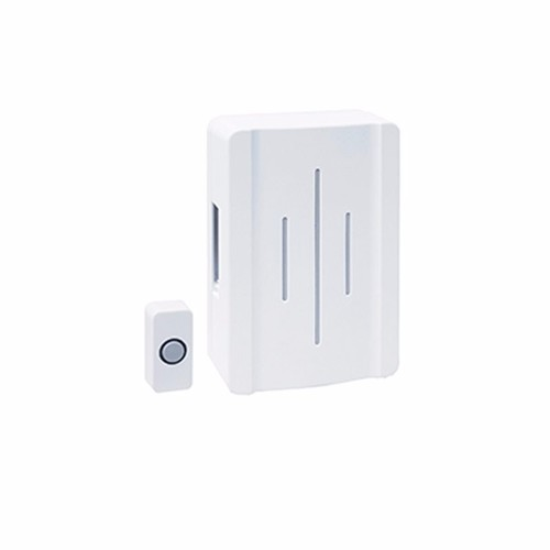 Greenbrook Hard Wired Ding Dong Door Bell Chime & Push Kit - White  - Click to view a larger image