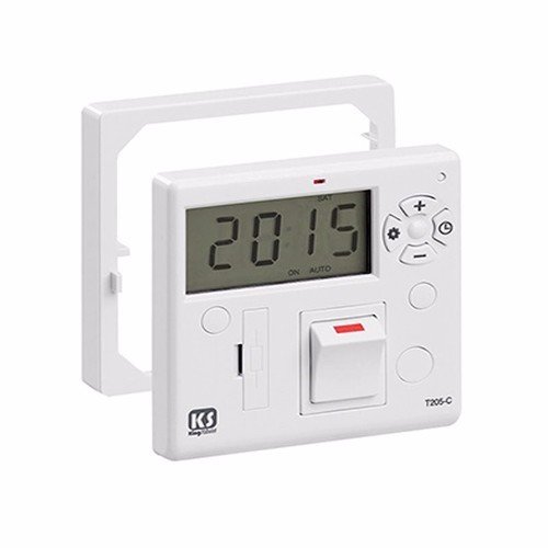 Greenbrook 7 Day Fused Timer Spur Switch Combination Unit Control Panel  - Click to view a larger image