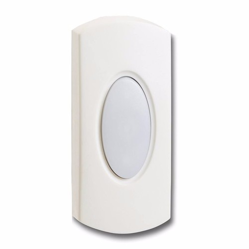 Greenbrook Wired White Bell Push Doorbell Switch Transmitter Non-Illuminated  - Click to view a larger image