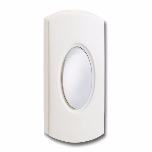 Greenbrook Wired White Bell Push Doorbell Switch Transmitter Illuminated  - Click to view a larger image