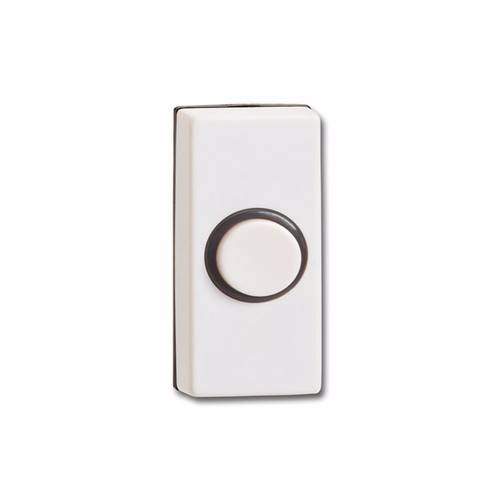 Greenbrook Wired White Black Bell Push Doorbell Switch Transmitter Illuminated Outline  - Click to view a larger image