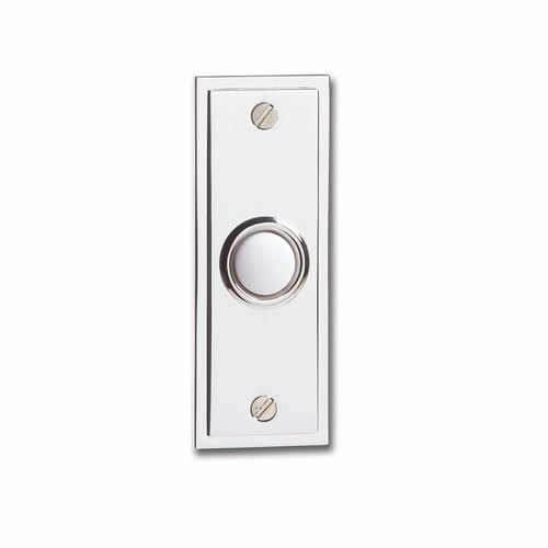 Greenbrook Wired Doorbell Polished Chrome Decorative Push  - Click to view a larger image
