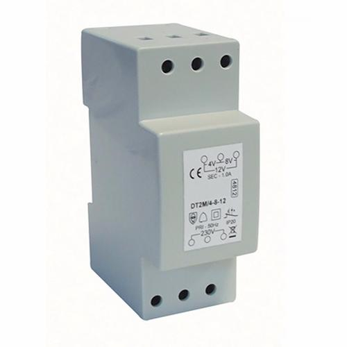 Greenbrook 1A Variable Voltage DIN Rail Double Insulated Bell And Chime Transformer  - Click to view a larger image