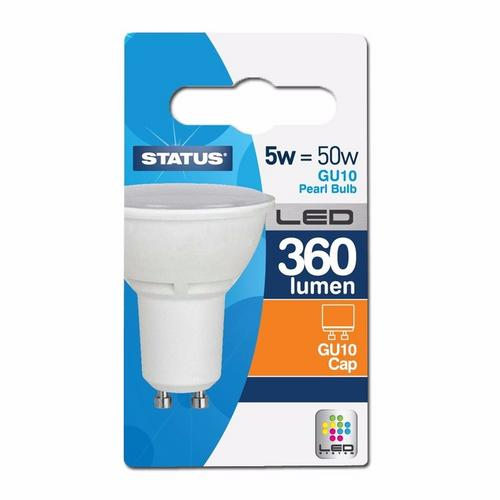 Status 5W LED GU10 Spotlight Bulb - Warm White  - Click to view a larger image