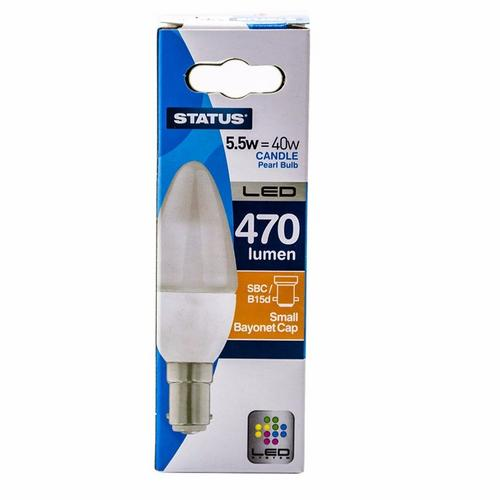 Status 5.5W Warm White Retrofit LED Candle Light Bulb  - Click to view a larger image