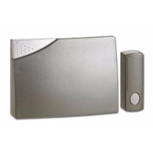 Greenbrook Ambassador 150m Range Wireless Door Bell Chime & Push Kit - Silver