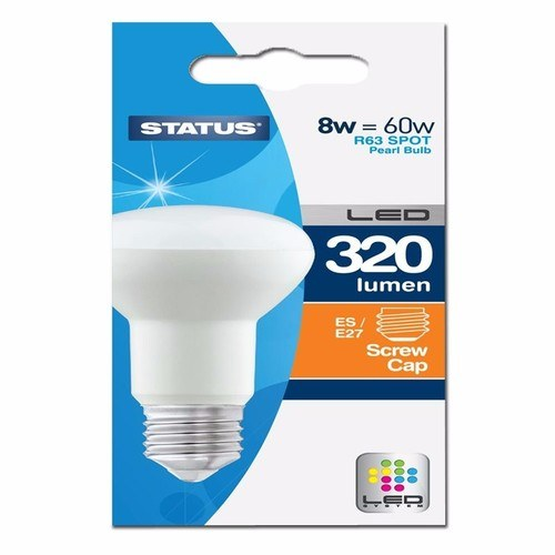 Status 8W R63 LED Edison Screw Reflector Bulb  - Click to view a larger image