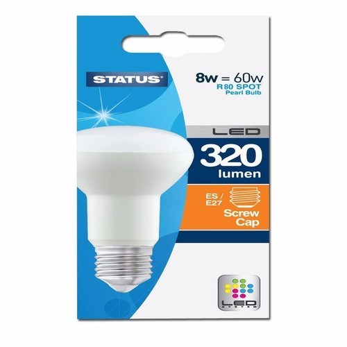 Status 8W R80 LED Edison Screw Reflector Bulb  - Click to view a larger image