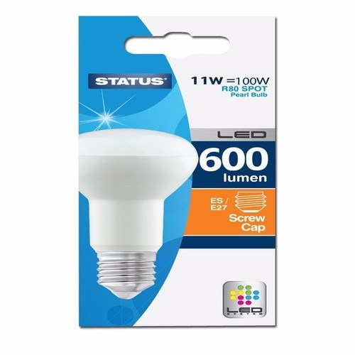 Status 11W Warm White Edison Screw ES LED R80 Spot Reflector Light Bulb  - Click to view a larger image