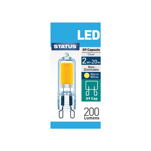 Status 3W Warm White G9 LED Capsule Light Bulb  - Click to view a larger image