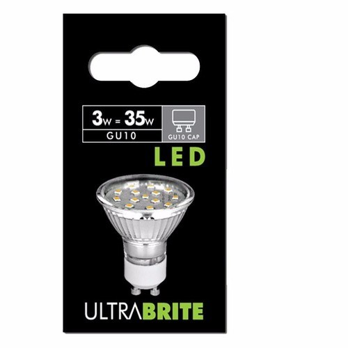 Status 5 PACK - UltraBrite 3W Warm White GU10 LED Retrofit Spotlight Bulb  - Click to view a larger image