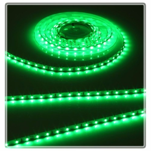 KnightsBridge Green 12V LED IP20 Flexible Indoor Internal Rope Lighting Strip - 5 Meter  - Click to view a larger image