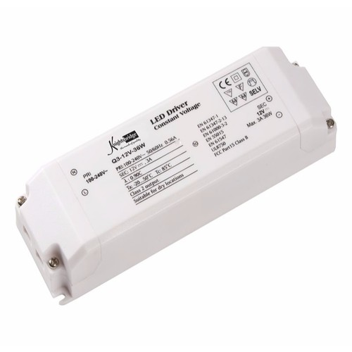 KnightsBridge 12V 10-36W IP20 DC LED Flexible Rope Lighting Power Supply Driver  - Click to view a larger image