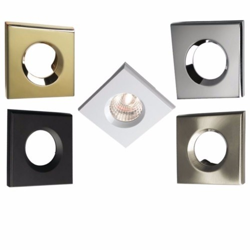 KnightsBridge Traditional IP65 Square Fire Rated Bezels for FireKnight Knightsbridge VFRSBEZBR - Brass Square Bezel - Click to view a larger image