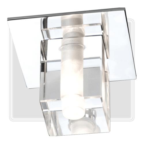 KnightsBridge Low Voltage IP65 Decorative Square Glass Bathroom Fitting & Lamp DEC1234C Knightsbridge Bathroom Lamp Fitting