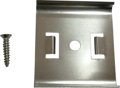 KnightsBridge Mounting Clip & Screw For Flat UltraThin LED Link Lights Flat Metal Mounting Clip for UltraThin Light - Click to view a larger image