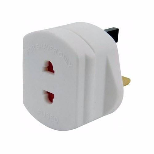 Mercury UK Mains To 2 Pin Shaver Socket Toothbrush Adapter Plug Mercury UK Mains to Shaver Adaptor - Click to view a larger image