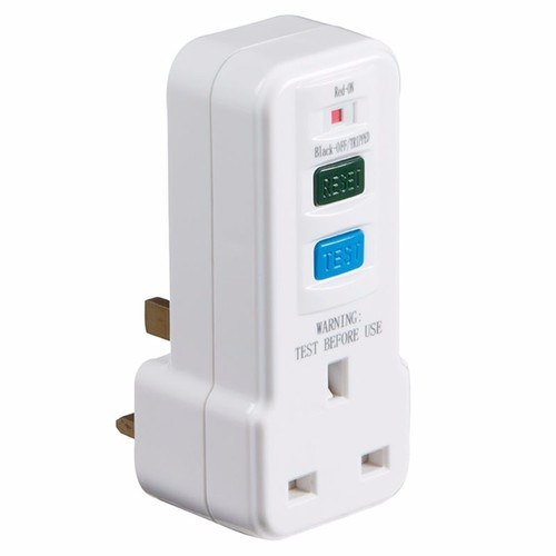 KnightsBridge Plug In RCD UK 3 Pin Power Breaker Safety Adaptor  - Click to view a larger image
