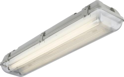 KnightsBridge Twin T8 18W IP65 240V Non-Corrosive Fluorescent Lamp Fitting KnightsBridge Non-Corrosive 2x18W Fluorescent Lamp Fitting - Click to view a larger image
