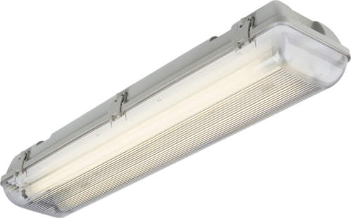 KnightsBridge Single T8 58W IP65 240V Emergency Backup Non-Corrosive Lamp Fitting Knightsbridge TR65158MHF Fluorescent Light Fitting - Click to view a larger image