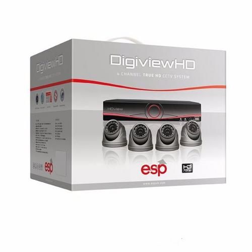 ESP 4 Channel Digiview AHD CCTV 4 Dome Camera Kit 4x Dome Camera Included - Click to view a larger image