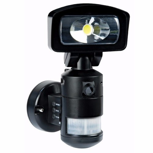 Night Watcher Robotic PIR LED Security Light & HD CCTV Video Camera Recorder Night Watcher Robotic LED Light and HD Camera - Click to view a larger image