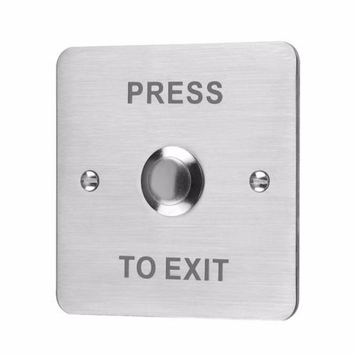ESP Flush Stainless Steel 12V Door Switch Push To Exit Button EVEXIT Door Release Button - Click to view a larger image