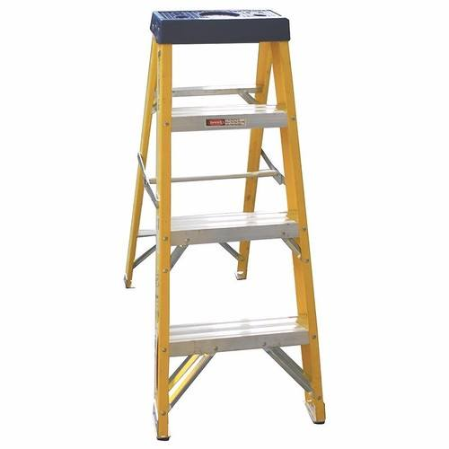 Greenbrook 4, 6, & 8 Step Fiberglass Aluminium Step Extension Ladder Pack  - Click to view a larger image