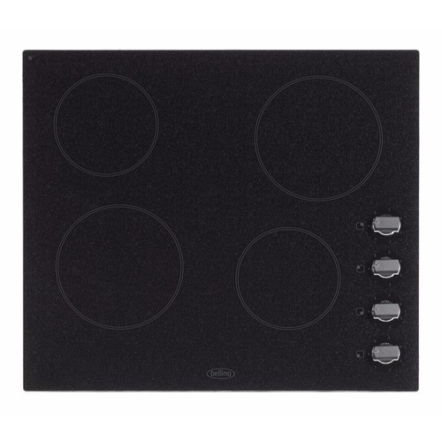 Belling 60cm 4 Zone Electric Ceramic Hob With Granite Effect & Rotary Controls CH60R Ceramic Hob Graphite Granite Finish - Click to view a larger image