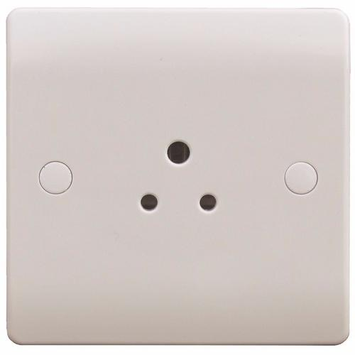 ESR Sline 2A White Round Pin 1G Single 230V Unswitched Electric Wall Socket ESR Sline 2A White Round Pin 1G Single 230V Unswitched Electric Wall Socket - Click to view a larger image