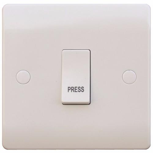ESR Sline 10A White Press Access 230V Electric Wall Plate Switch ESR Sline 10A White Press Access 230V Electric Wall Plate Switch  - Click to view a larger image
