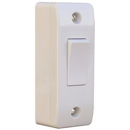ESR Sline 10A 1 Gang 2 Way Architrave Switch & Pattress Box SL340/SL342 - 10AX 1 Gang 2 Way Architrave Switch & 16mm Pattress Box - Click to view a larger image