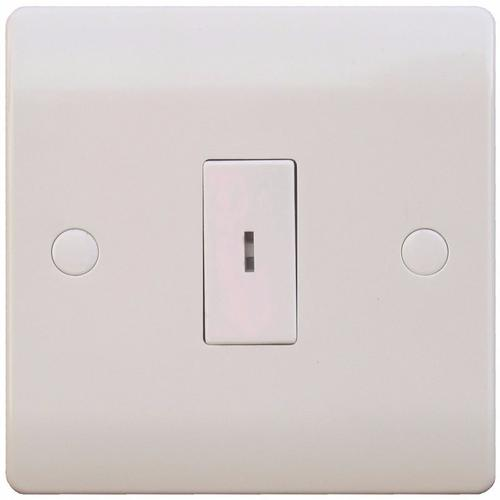 ESR Sline 10A White 1G 2 Way Electric Fish Key Operated Wall Plate Switch SL322 - 10AX 1 Gang 2 Way Key Switch - Click to view a larger image