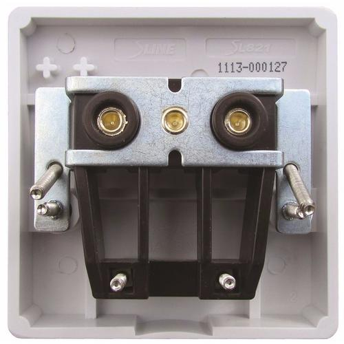 ESR Sline 45A White 1G Cooker Cable Connection Unit Electric Wall Box SL821 - 45a 1 Gang Cooker Connection Plate  - Click to view a larger image