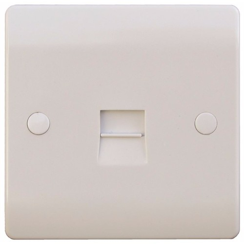 ESR Sline 1G White Telephone Extension Socket Flush Wall Switch 1 Gang Secondary Telephone Socket - Click to view a larger image
