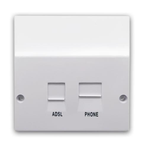 Bt Nte5 Compatible Adsl Broadband Faceplate Splitter Adaptor Socket Electrical World