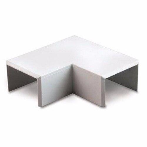 Zexum 16mm x 16mm Mini Trunking Accessories - Flat Angle