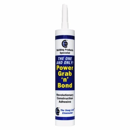 C-Tec Power Grab n Bond Construction Vertical Bonding Industrial Adhesive C-Tec Power Grab N Bond 290ml Cartridge - Click to view a larger image