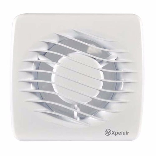 "Xpelair DX100T 4"" 100mm Square Bathroom Extrator Fan With Timer Xpelair DX100T 4"" 100mm Square Bathroom Extrator Fan  - Click to view a larger image"