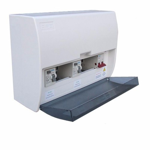 ESR 17th Edition Modular Consumer Unit With 100 Amp Mains Switch  17th Edition Modular Consumer Unit With 100a Mains Switch - Internal View - Click to view a larger image