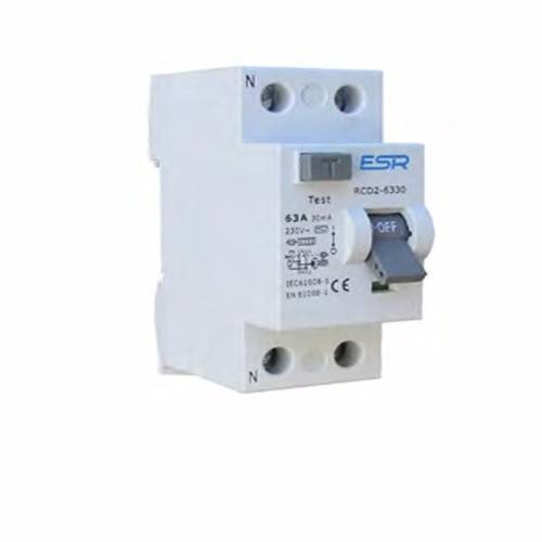 ESR RCCB RCD 2 Pole Type A Domestic Consumer Unit Circuit Breaker  - Click to view a larger image
