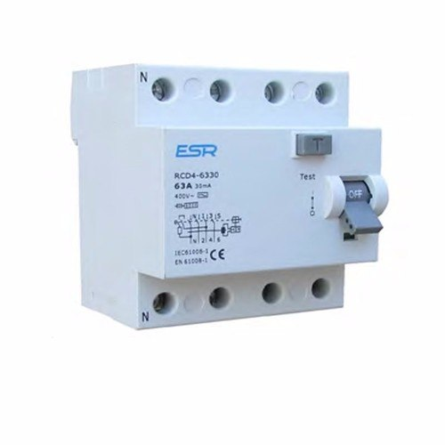ESR RCCB RCD 4 Pole Module Domestic Consumer Unit Circuit Breaker  - Click to view a larger image