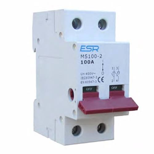 ESR 100 Amp Mains Switch 2 Pole Module Domestic Consumer Unit  - Click to view a larger image
