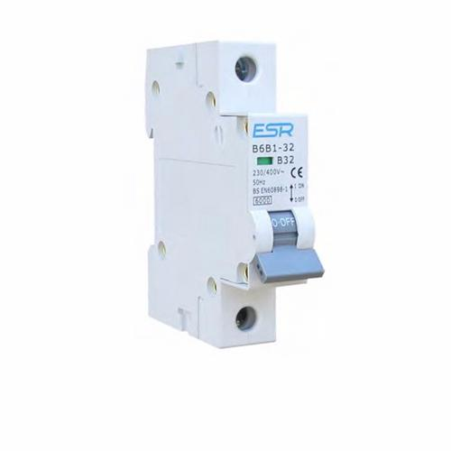 ESR MCB B Curve 1 Pole 6kA Circuit Breakers Domestic Consumer Units  - Click to view a larger image