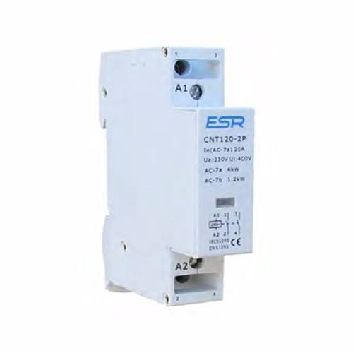 ESR 20A 2 Pole Contactor Module For Domestic Consumer Units ESR 2 Pole N/O Contactor Module For Domestic Consumer Units - Click to view a larger image