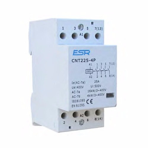 ESR 25A 4 Pole Contactor Module For Domestic Consumer Units ESR 25A 4 Pole N/O Contactor Module For Domestic Consumer Units  - Click to view a larger image