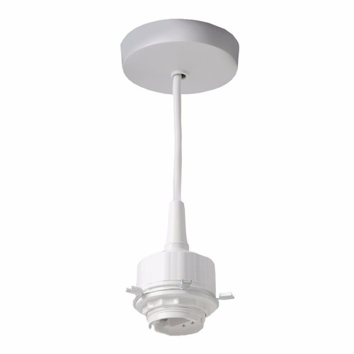 KnightsBridge 6 Inch G24 4 Pin Low Energy Pendant Set Fluorescent Light Fitting KnightsBridge 6 Inch Pendant Set Low Energy Fluorescent Light Fitting - Click to view a larger image
