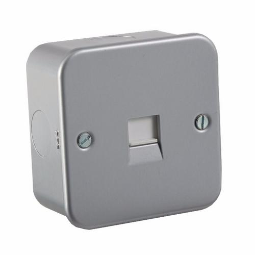 KnightsBridge Metal Clad Telephone Master Flush Wall Socket  - Click to view a larger image